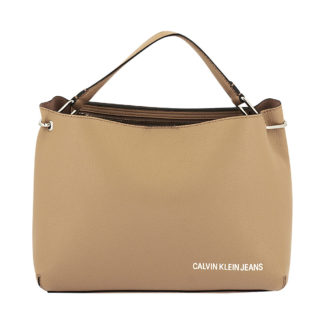 Calvin Klein - Calvin Klein Ultra Light 2 Way Satchel K40K400606 - μπεζ