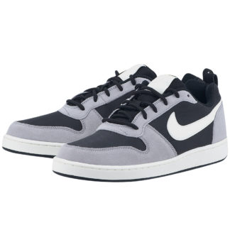 Nike - Nike Court Borough Low Premium 844881-005 - ΜΑΥΡΟ/ΓΚΡΙ