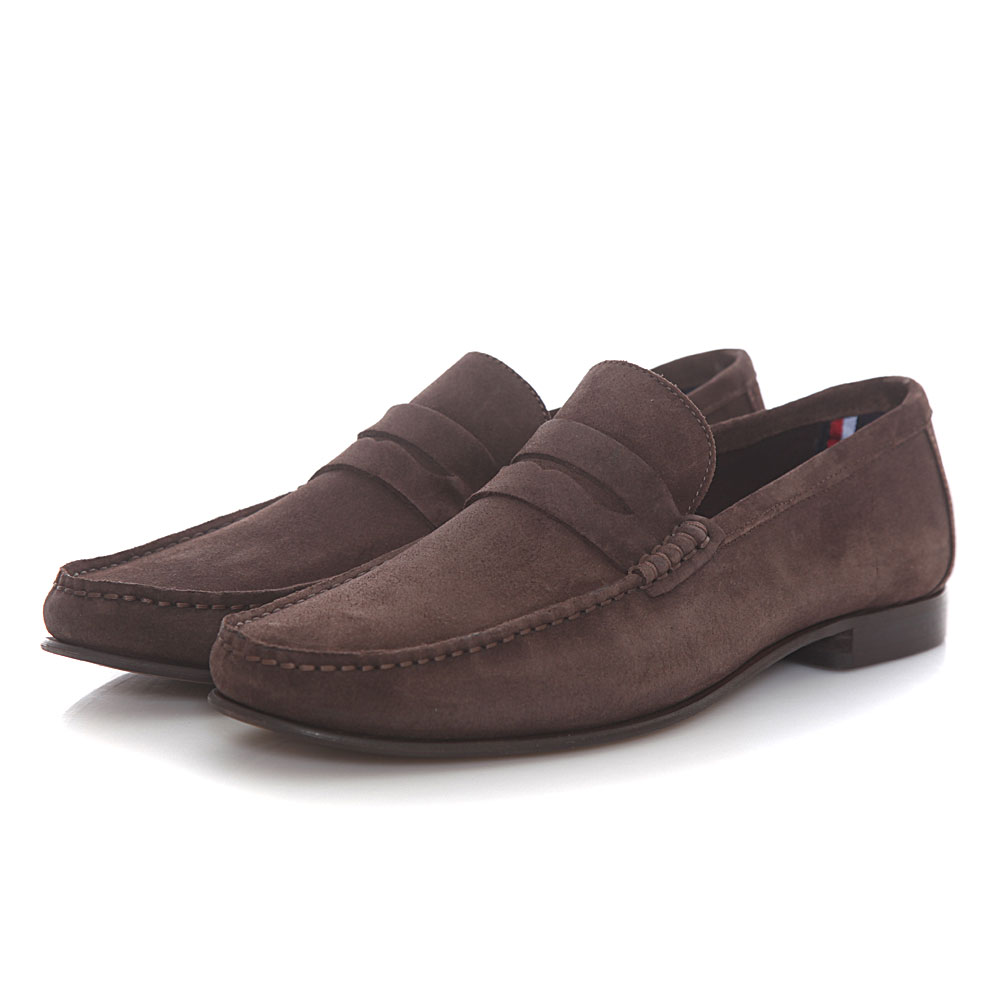 exquisite style the sale of shoes fresh styles Tommy Hilfiger - Tommy Hilfiger Core Suede Loafer FM0FM02106-212 - καφε