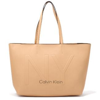 Calvin Klein - Calvin Klein Ck Must Psp20 Med Shopper Ny K60K606181-GE1 - μπεζ