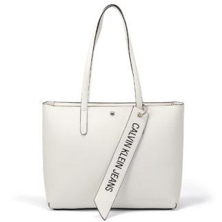 Calvin Klein - Calvin Klein Ckj Banner Ew Shopper K60K606141-YAF - λευκο