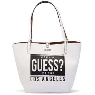 Guess - Guess Alby Toggle Tote HWAG7455230-WHC - λευκο
