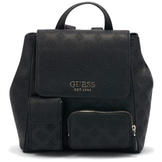 Guess - Guess Ilenia Pocket Backpack HWSG7473320-BLA - μαυρο