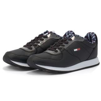 Tommy Hilfiger - Tommy Hilfiger Casual Tommy Jeans Sneaker EM0EM00372-BDS - μαυρο